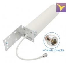 Antenna circular omnidirectional 2G / 3G / 4G 10-12 dB, 698-960 MHz / 1710-2700 MHz ANT002
