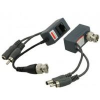 Single channel passive video, audi, power Balun CAT5 RJ45 (pair) AC027
