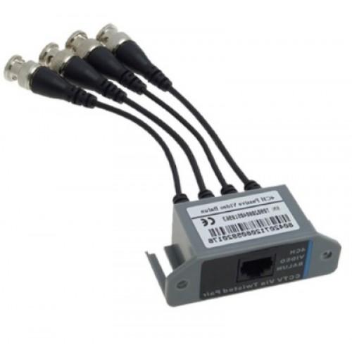 Four passive video balun UTP CAT5 AC049