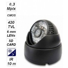 Camera with flash cards 0,3 Mpix 480P STF001
